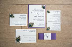 peacock wedding invitations purple peacock wedding invitations agape planning