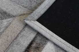 Patchwork Cowhide Grey Cow Hide Rug