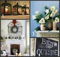 fireplace fantastic christmas mantel decorations with hurricane