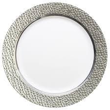 silver wedding plates 7 25 white silver plastic hammered dessert salad plates