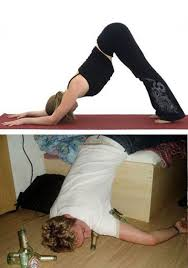 Drunk Yoga Meme - 16 yoga poses that you can easily do when drunk 5 is so ridiculous