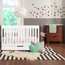 White Convertible Crib Sets by Modern Babyletto 2 Piece Nursery Set Mercer Two Tone 3 In 1 Crib