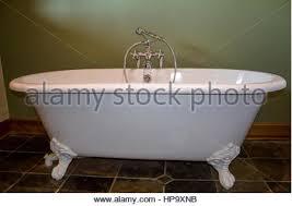 Olive Green Bathroom Traditional Old Iron Bath In A Hotel Bathroom The Beechwood Hotel