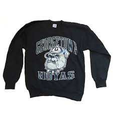 vintage georgetown hoyas sweatshirt fan merchandise as worn by