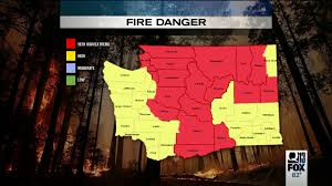 Graham Wa Wildfire by 18 Counties In Washington Under U0027extreme Fire Danger U0027 Including