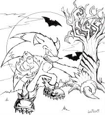 sonic the werehog coloring pages sonic the werehog coloring pages
