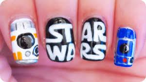 star wars nail art c3po bb 8 u0026 r2d2 youtube