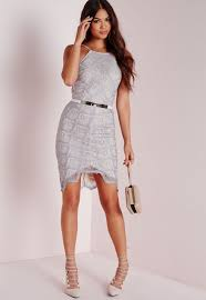 grey bodycon dress lyst missguided lace bodycon dress grey in gray
