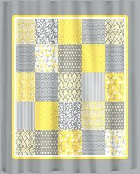 Yellow And White Shower Curtain Yellow Grey And White Shower Curtain Emejing Yellow Gray Curtains