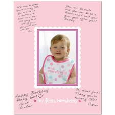 1st birthday girl 1st birthday girl autograph photo mat
