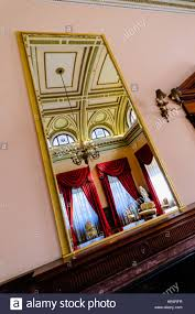 mirror above the fireplace in the ballroom of the harbour stock