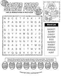 easter word search puzzle free coloring pages for kids printable