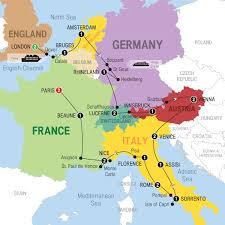 map image le tour d europe