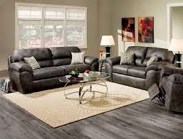 Corinthian Sofa Furniture Of America 2 Pcs Sofa Set Charcoal Leatherette Sm5118
