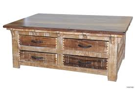 coffee table rustic solid wood coffee table with storage drawers