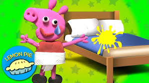 peeing the bed bedding peppa pig play doh animated story peeing the bed kids