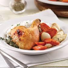 cuisiner un poulet roti poulet rôti et petits légumes recettes cuisine et nutrition
