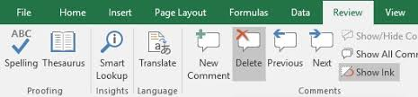 excel delete all comments in workbook with and without vba