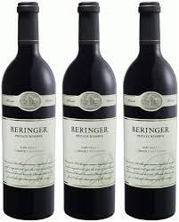 carano reserve cabernet beringer reserve cabernet sauvignon vertical 3 pack 2006