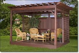 Gazebo Or Pergola by Amish Gazebo Shop Ivywood Wood Pergolas
