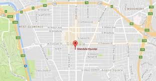 map of burbank ca dealership near los angeles burbank ca glendale hyundai