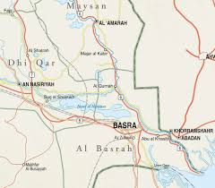 basra map basra province iraq institute for the study of war