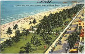 Miami Beach Map Lummus Park And Public Bathing Beach At Miami Beach Florida