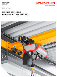 clx chain hoist crane konecranes pdf catalogue technical