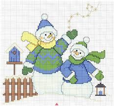 10 easy free cross stitch patterns snowman christmas cross