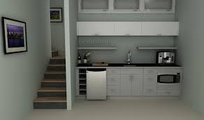 Ikea Basement Ideas An Ikea Basement Kitchenette With High Gloss Doors In Abstrakt