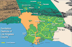 Greater Los Angeles Map by Lacsd Website Wastewater Facilities