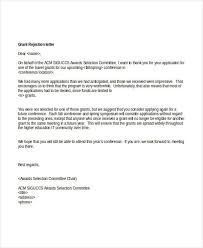 Decline Letter For 6 Grant Rejection Letters Free Sle Exle Format