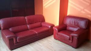 canapé et fauteuil cuir achetez salon cuir occasion annonce vente à flers 61 wb151735650