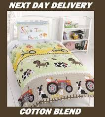 Next Boys Duvet Covers Farmyard Tractor Kids Licensed Quilt Duvet Bedding Cover Sets