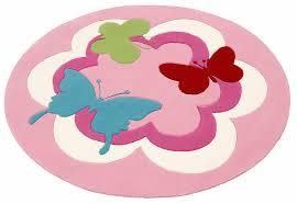 teppich kinderzimmer rund kinderteppich butterfly esprit rund höhe 10 mm