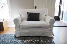 chair and a half slipcovers grain sacks and knife pleats galore by cozy cottage