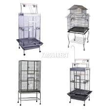 objet en metal foxhunter large metal bird cage with stand aviary parrot budgie