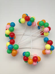 plastic balloons 6 clusters colorful plastic balloon picks cupcake or cake topper