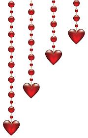 valentine u0027s day hanging hearts transparent png clip art image