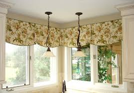 diy kitchen curtain ideas ascot valance design kitchen curtain ideas with flower motif