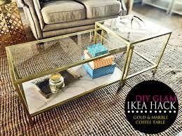 ikea hacks coffee table diy glam ikea hack gold and marble coffee table home heart