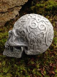 Celtic Garden Decor Skull Statue Garden Decor Celtic Skull Skull With Runes