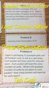 Least Common Multiples Worksheet 21084 Best Math For Sixth Grade Images On Pinterest Teaching
