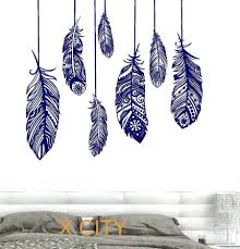 Wall Decorations Living Room by Wall Ideas Ethnic Love Feather Romantic Bedroom Wall Art Decal
