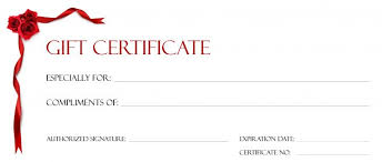 free printable gift certificate forms high quality template