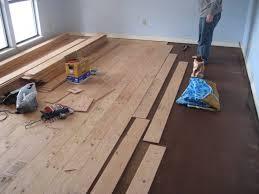 installing glue wood engineered floor on uneven concrete on