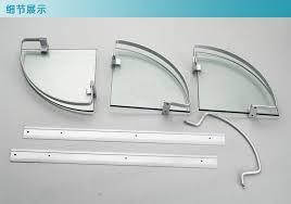 Corner Shelves For Bathroom Wall Mounted Aluminum 3 Tier Glass Shelf Shower Holder Bathroom Accessories