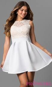 all white graduation dresses lace bodice graduation party dress promgirl