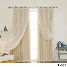 Thermalogic Ultimate Blackout Thermal Liner by Aurora Home Mix U0026 Match Curtains Blackout And Muji Sheer 84 Inch