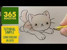 imágenes de gatos fáciles para dibujar como dibujar un dulce gatito kawaii